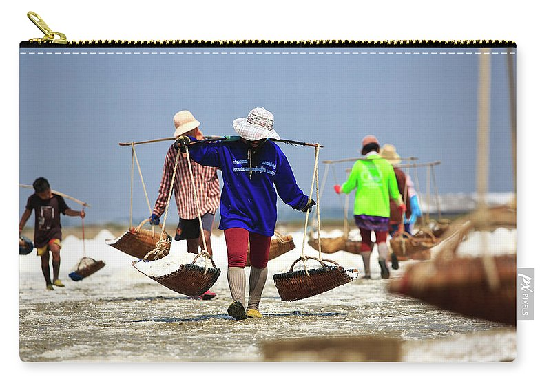 Child Carry-all Pouch featuring the photograph Salt Farm In Thailand by Monthon Wa