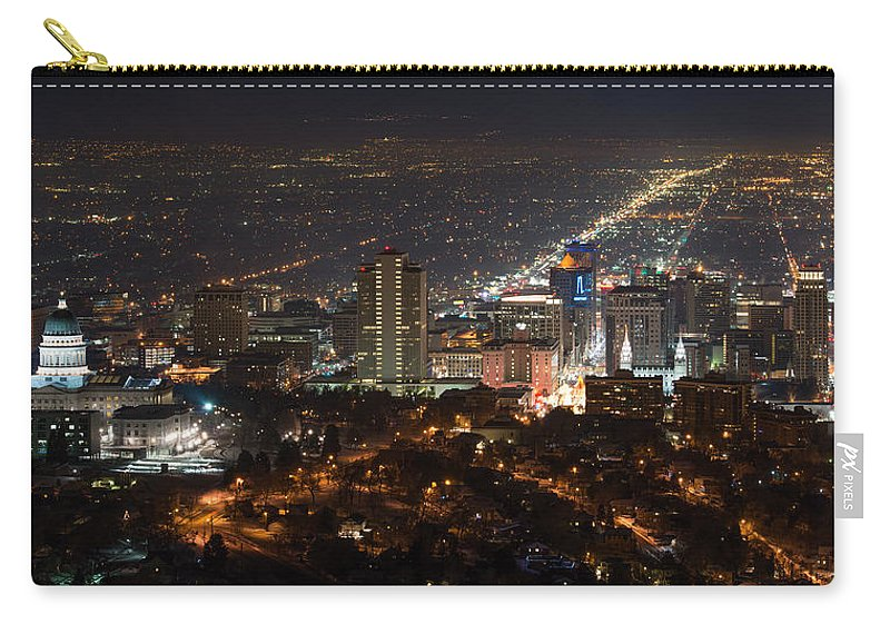 Salt Lake City Carry-all Pouch featuring the photograph Salt Lake City by Dustin LeFevre