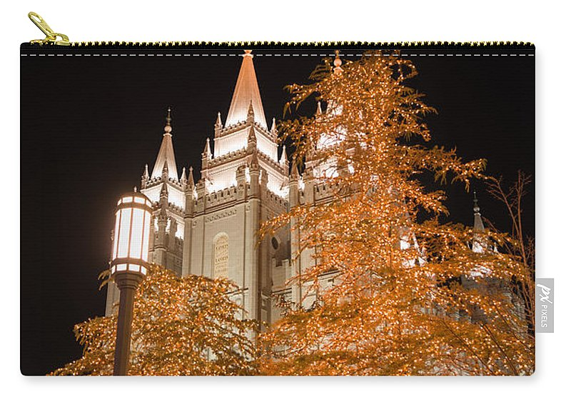 Temple Carry-all Pouch featuring the photograph Salt Lake Temple by Dustin LeFevre
