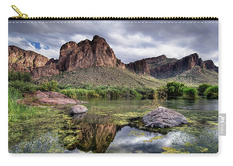 Tranquility Carry-all Pouch featuring the photograph Salt River, Arizona by Image By Sean Foster
