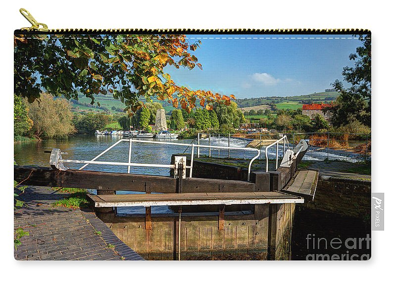 Altford Carry-all Pouch featuring the photograph Saltford Locks by Rob Hawkins