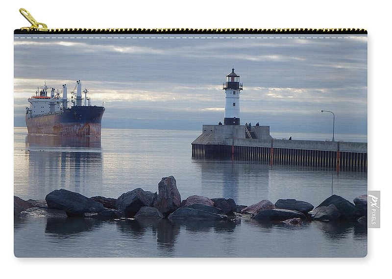 Ships Carry-all Pouch featuring the photograph Saltie by Alison Gimpel