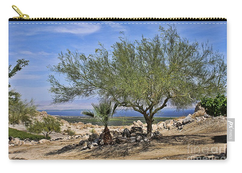 Salton Sea Carry-all Pouch featuring the photograph Salton Sea Oasis by Tommy Anderson