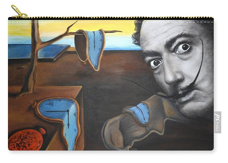 Persistence Carry-all Pouch featuring the painting Salvador Dali by Yelena Day