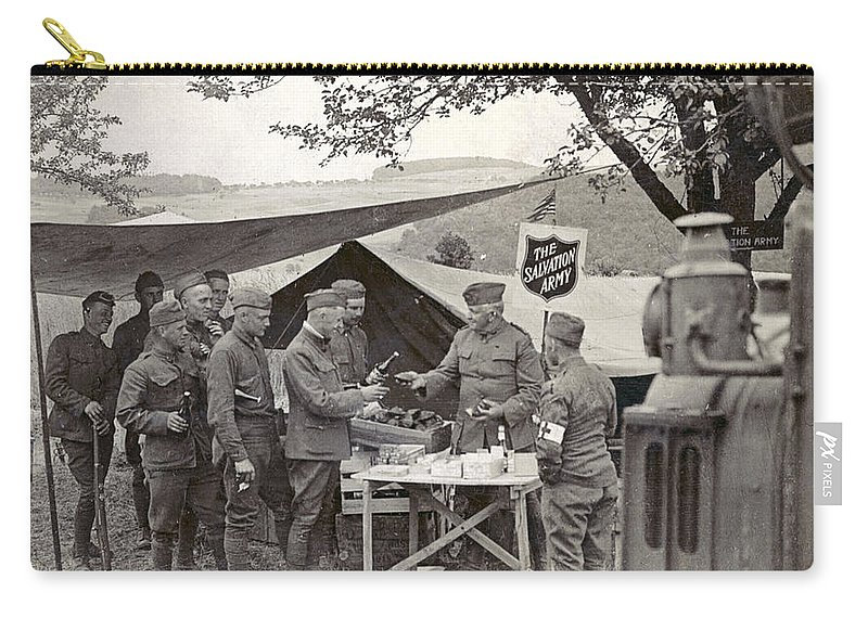 1918 Carry-all Pouch featuring the photograph Salvation Army At Front by Granger