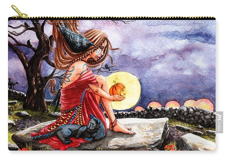 Samhain Carry-all Pouch featuring the painting Samhain by Margaret Schons