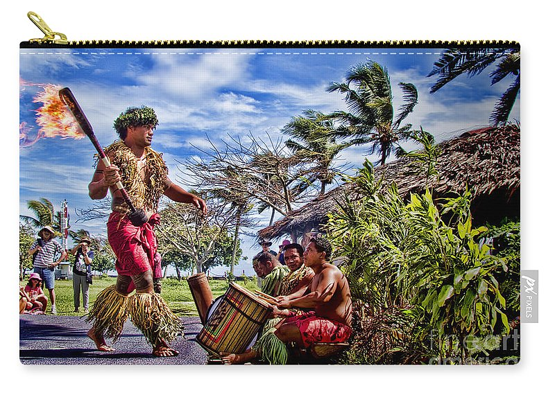 Samoa Carry-all Pouch featuring the photograph Samoan Torch Bearer by David Smith