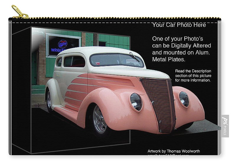 Out Of Bounds Carry-all Pouch featuring the photograph Sample Car Artwork Readme by Thomas Woolworth