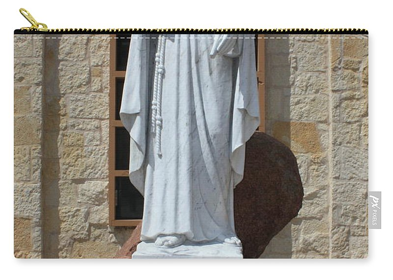 San Antonio Carry-all Pouch featuring the photograph San Antonio Statue by Carol Groenen