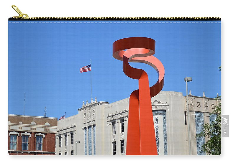 Architecture Carry-all Pouch featuring the photograph San Antonio Tx by Shawn Marlow