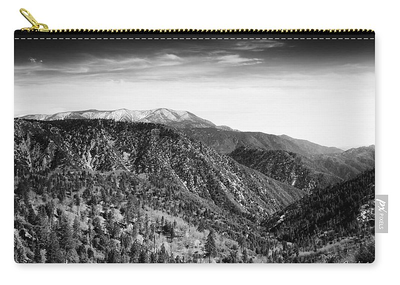 April Carry-all Pouch featuring the photograph San Bernardino Snow by Phill Doherty
