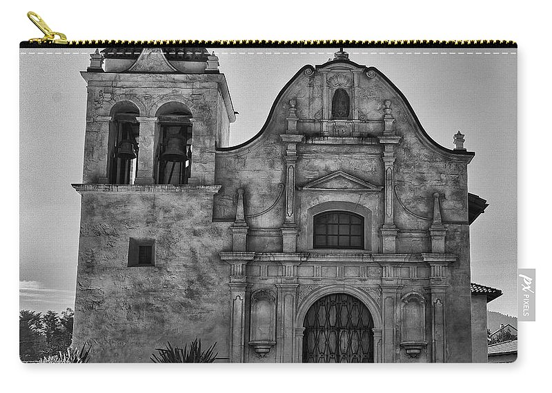 Monterey California Carry-all Pouch featuring the photograph San Carlos Cathedral 2 by Ron White