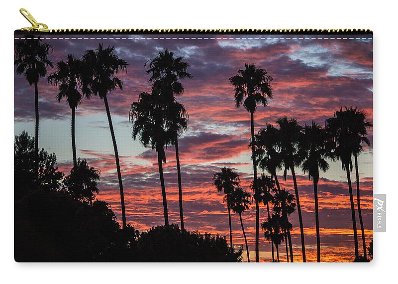 San Clemente Sunset Carry-all Pouch featuring the photograph San Clemente Sunset by Richard Cheski
