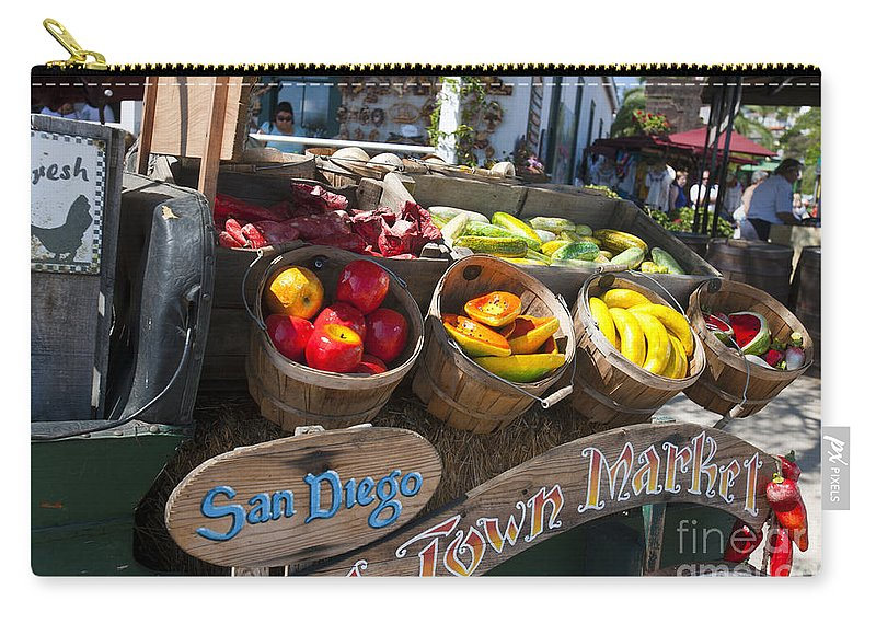 Travel Carry-all Pouch featuring the photograph San Diego Old Town Market by Jason O Watson