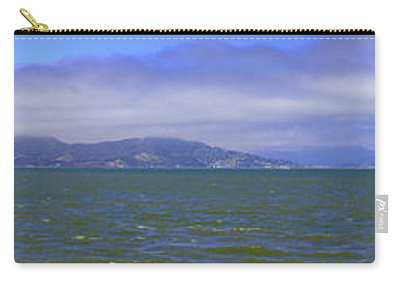 Panorama Carry-all Pouch featuring the photograph San Francisco Bay Golden Gate Bridge  Alcatraz Panorama by LeeAnn McLaneGoetz McLaneGoetzStudioLLCcom