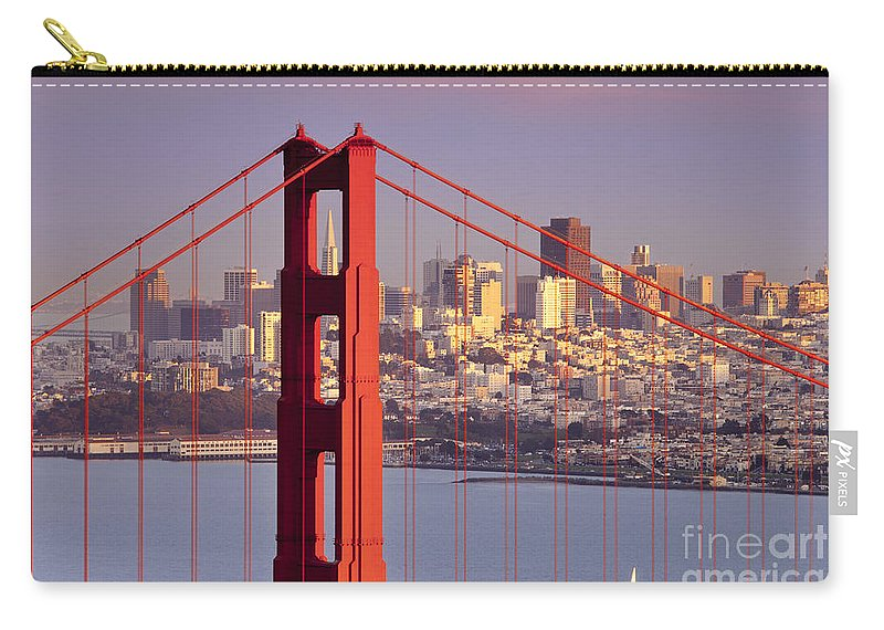 Golden Gate Carry-all Pouch featuring the photograph San Francisco by Brian Jannsen