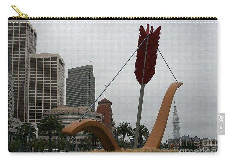 San Francisco Carry-all Pouch featuring the photograph San Francisco - Cupid's Span by Christiane Schulze Art And Photography