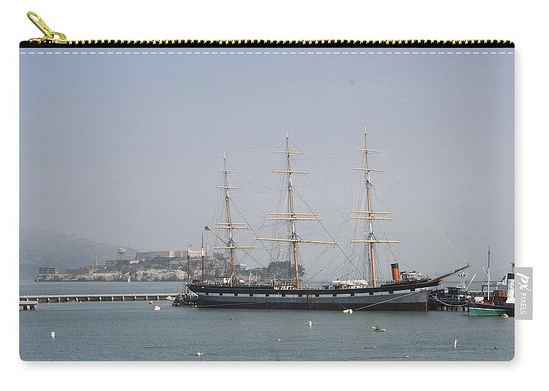 San Francisco Carry-all Pouch featuring the photograph San Francisco - Hyde Street Pier - Balclutha by Christiane Schulze Art And Photography