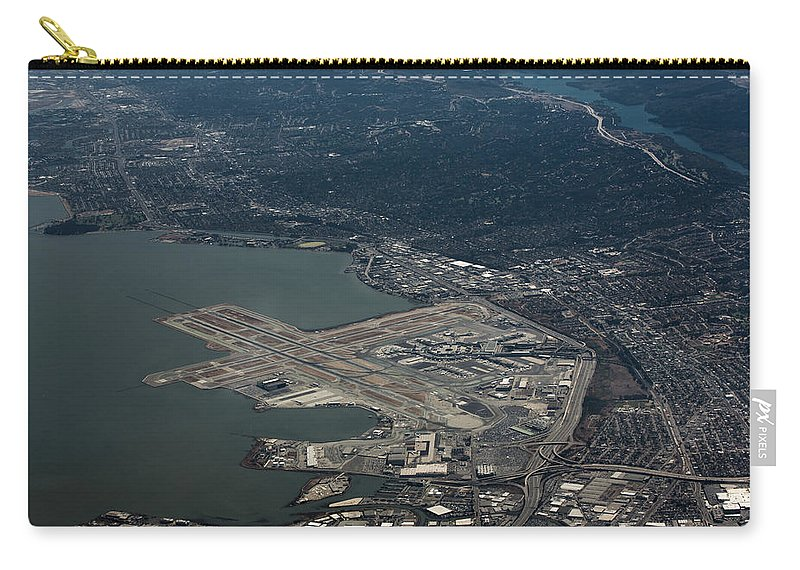 Sfo Carry-all Pouch featuring the photograph San Francisco International Airport by John Daly