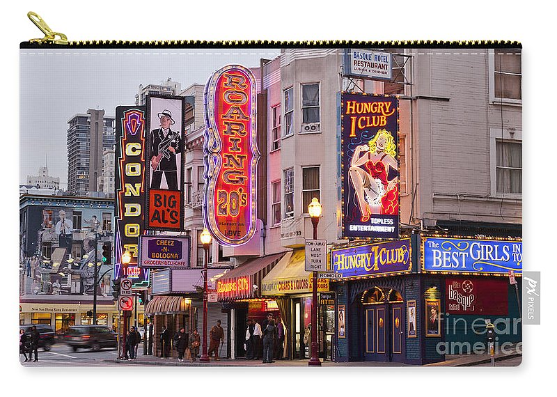 San Francisco Carry-all Pouch featuring the photograph San Francisco North Beach District by B Christopher