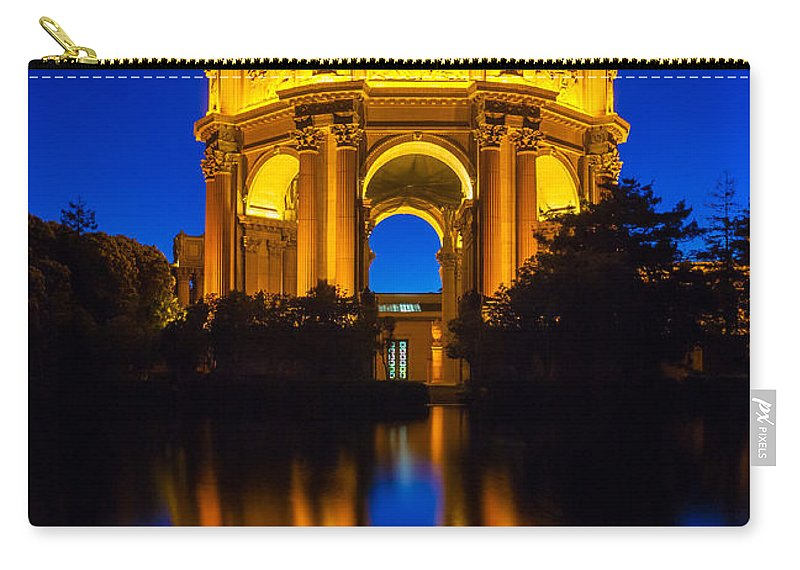 America Carry-all Pouch featuring the photograph San Francisco Palace Of Fine Arts by Inge Johnsson