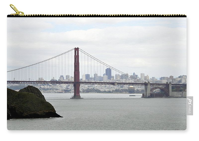 Scenic Carry-all Pouch featuring the photograph San Francisco Through The Golden Gate by AJ Schibig