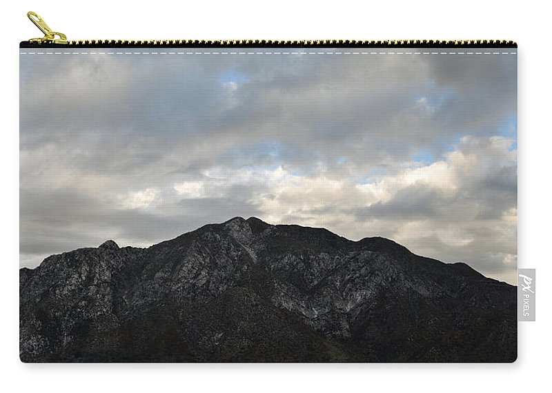 Rocky Peak Carry-all Pouch featuring the photograph San Gabriel Mountains Evening by Kyle Hanson