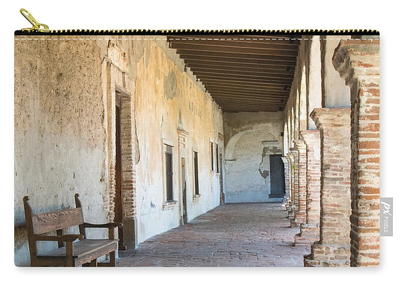 Missions Carry-all Pouch featuring the photograph San Juan Capistrano Vii by Robert VanDerWal