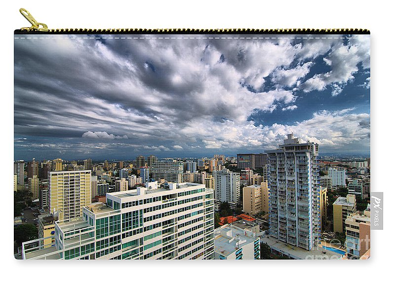 Building Carry-all Pouch featuring the photograph San Juan Puerto Rico Cityscape by Amy Cicconi