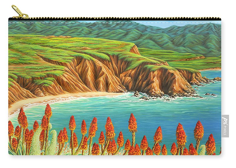 Ocean Carry-all Pouch featuring the painting San Mateo Springtime by Jane Girardot