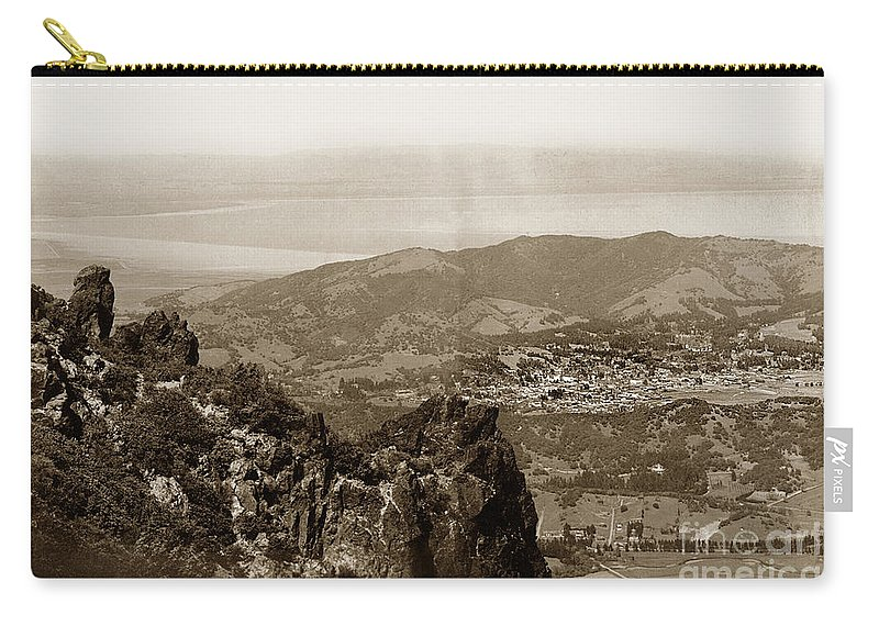 San Rafael Carry-all Pouch featuring the photograph San Rafael From Mount Tamalpais California Circa 1905 Photo By Putnam- Valentine by California Views Archives Mr Pat Hathaway Archives