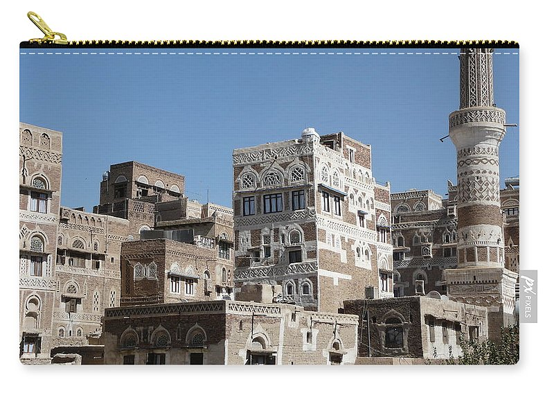 Architecture Carry-all Pouch featuring the photograph Sanaa by Ivan Slosar
