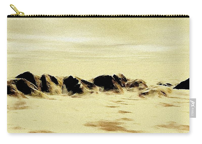 Computer Carry-all Pouch featuring the painting Sand Desert by Anastasiya Malakhova