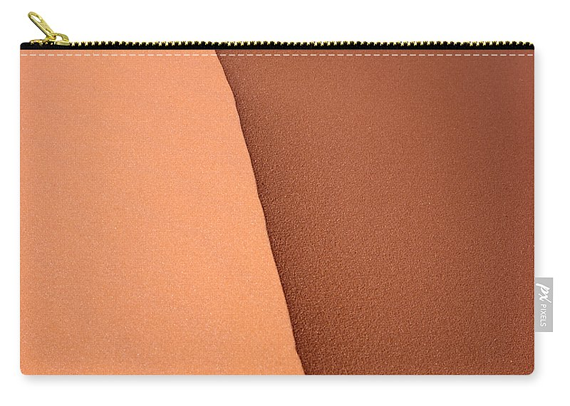 Pink Sand Carry-all Pouch featuring the photograph Sand Dune Edge by Rich Franco