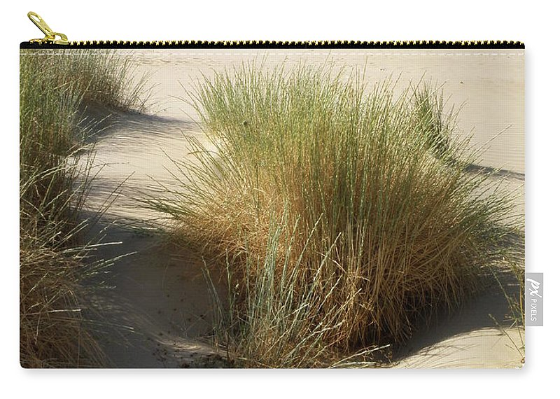 Beach Carry-all Pouch featuring the photograph Sand Sea Mountains - Crete by Lainie Wrightson