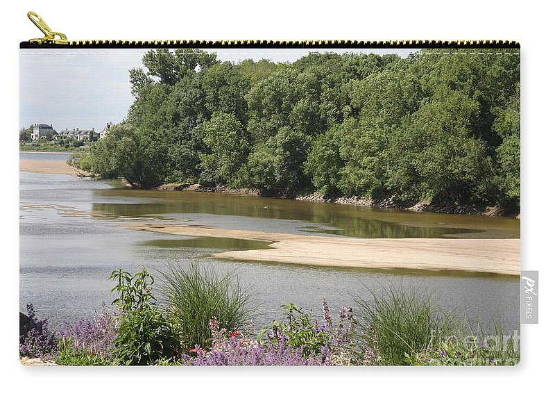 River Carry-all Pouch featuring the photograph Sandbanks In The River by Christiane Schulze Art And Photography