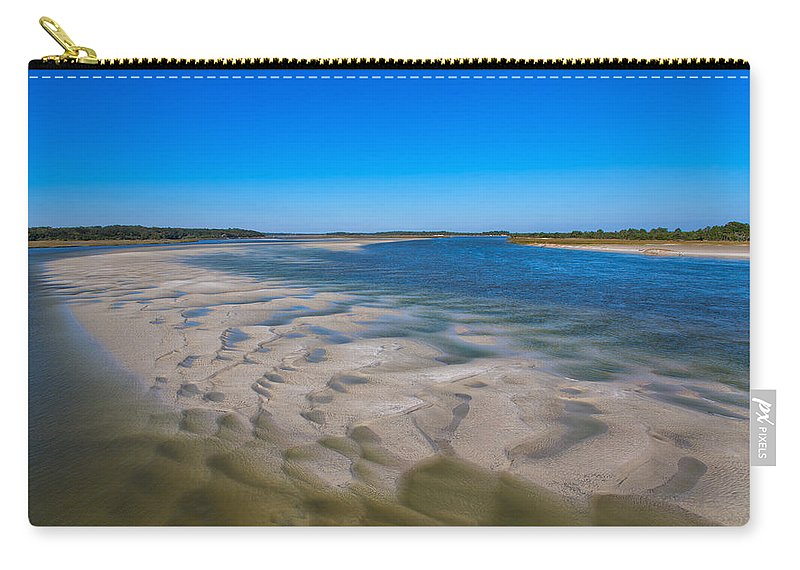 Sky Carry-all Pouch featuring the photograph Sandbars On The Fort George River by John M Bailey