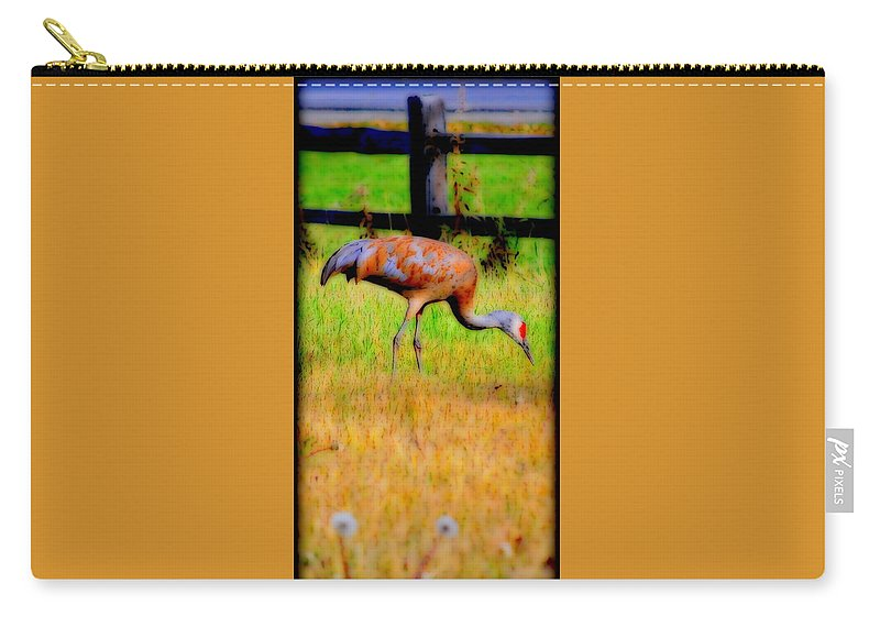 Migratory Carry-all Pouch featuring the photograph Sandhill Crane II by Kathy Sampson