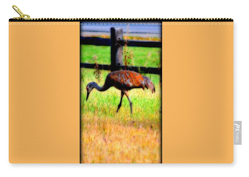 Migratory Carry-all Pouch featuring the photograph Sandhill Crane IIi by Kathy Sampson