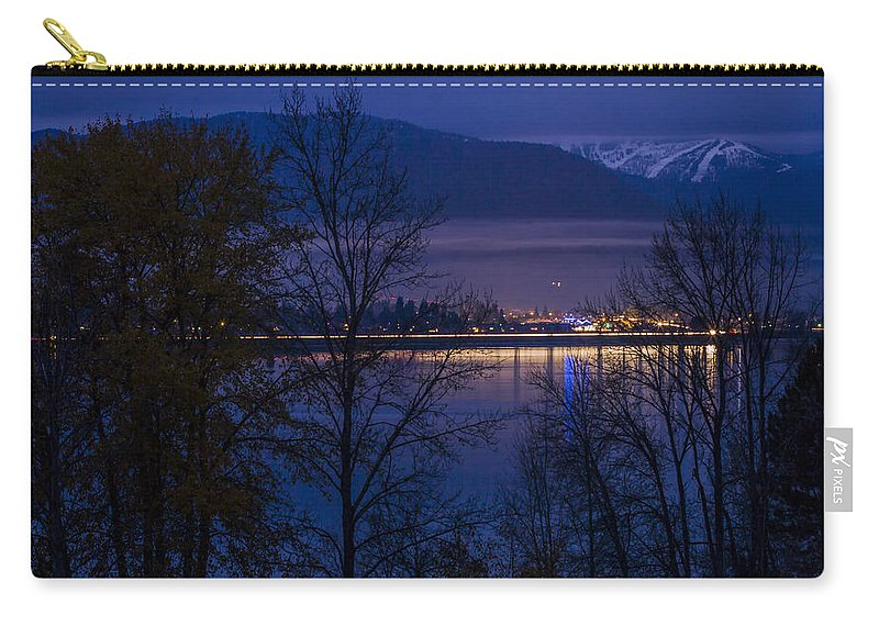 Sandpoint Carry-all Pouch featuring the photograph 131112a-110 Sandpoint After Dusk by Albert Seger