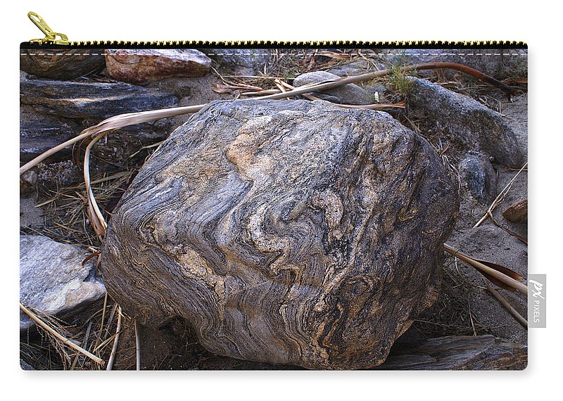 Barbara Snyder Carry-all Pouch featuring the digital art Sandstone Boulder by Barbara Snyder