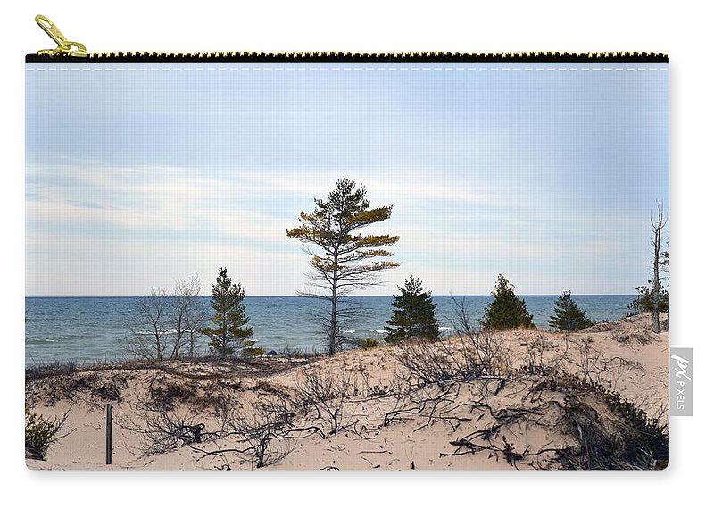 Lake Huron Carry-all Pouch featuring the photograph Sandy Dune by Linda Kerkau