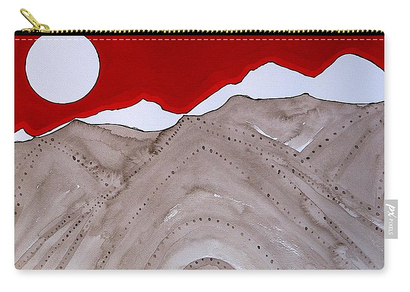 Rockies Carry-all Pouch featuring the painting Sangre De Cristo Peaks Original Painting by Sol Luckman