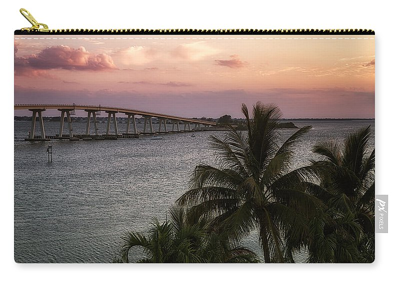 Sunset Carry-all Pouch featuring the photograph Sanibel Island Causeway by Kim Hojnacki