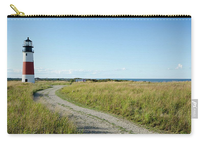 Scenics Carry-all Pouch featuring the photograph Sankaty Head Lighthouse, Nantucket by Nine Ok