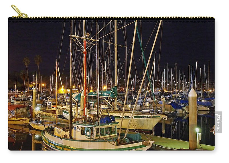 Santa Barbara Carry-all Pouch featuring the photograph Santa Barbata Harbor Color by David Pantuso