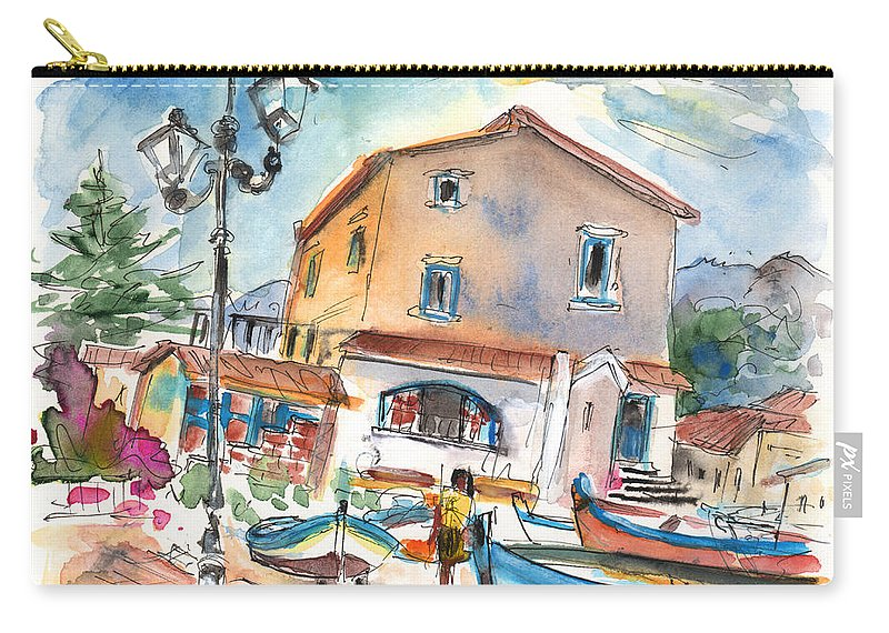 Travel Carry-all Pouch featuring the painting Santa Flavia 01 by Miki De Goodaboom