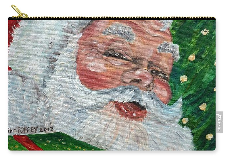 Santa Carry-all Pouch featuring the painting Santa by Julie Brugh Riffey