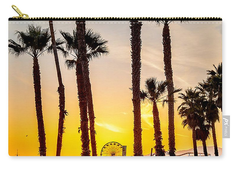 Los Angeles Carry-all Pouch featuring the photograph Santa Monica Palms by Az Jackson