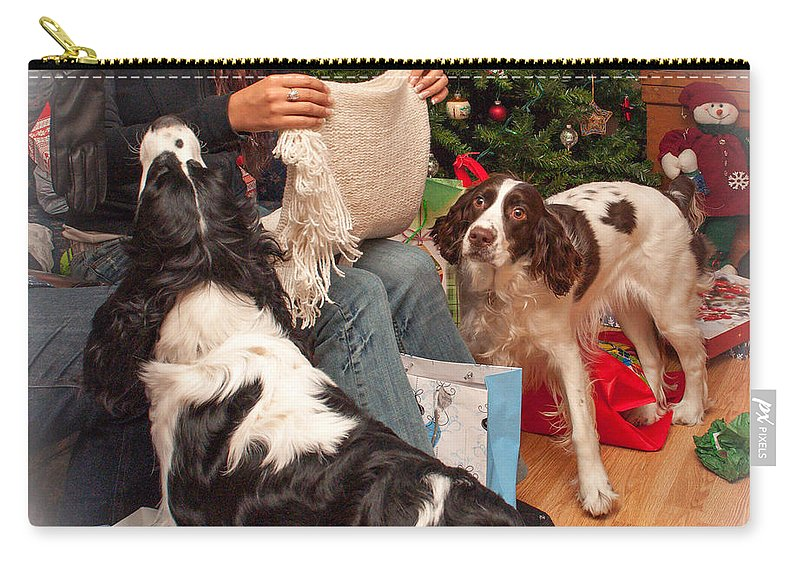 Xmas Carry-all Pouch featuring the photograph Santa's Helpers by Steve Harrington